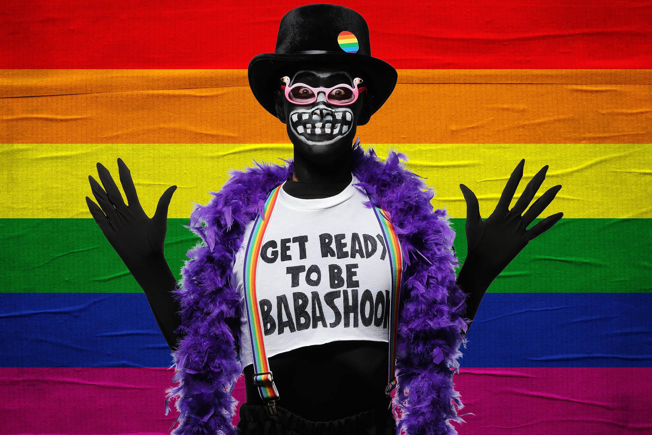 Gay Pride Halloween Costume.Diy Babadook Pride Costume And Makeup Tutorial Halloween Costumes Blog