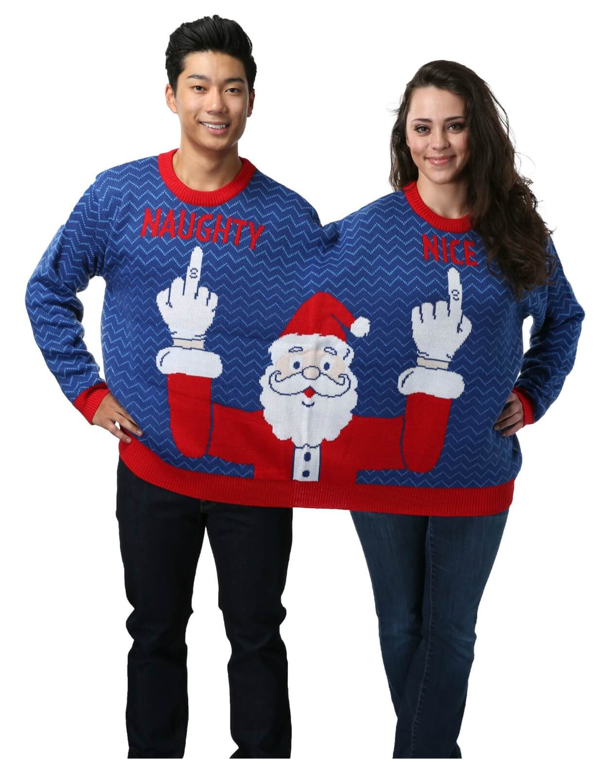 Two Person Naughty and Nice Sweater