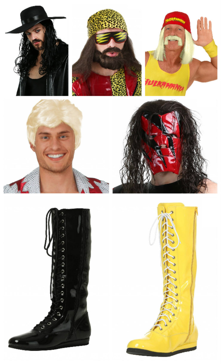 WWE Wigs and Wrestling Boots