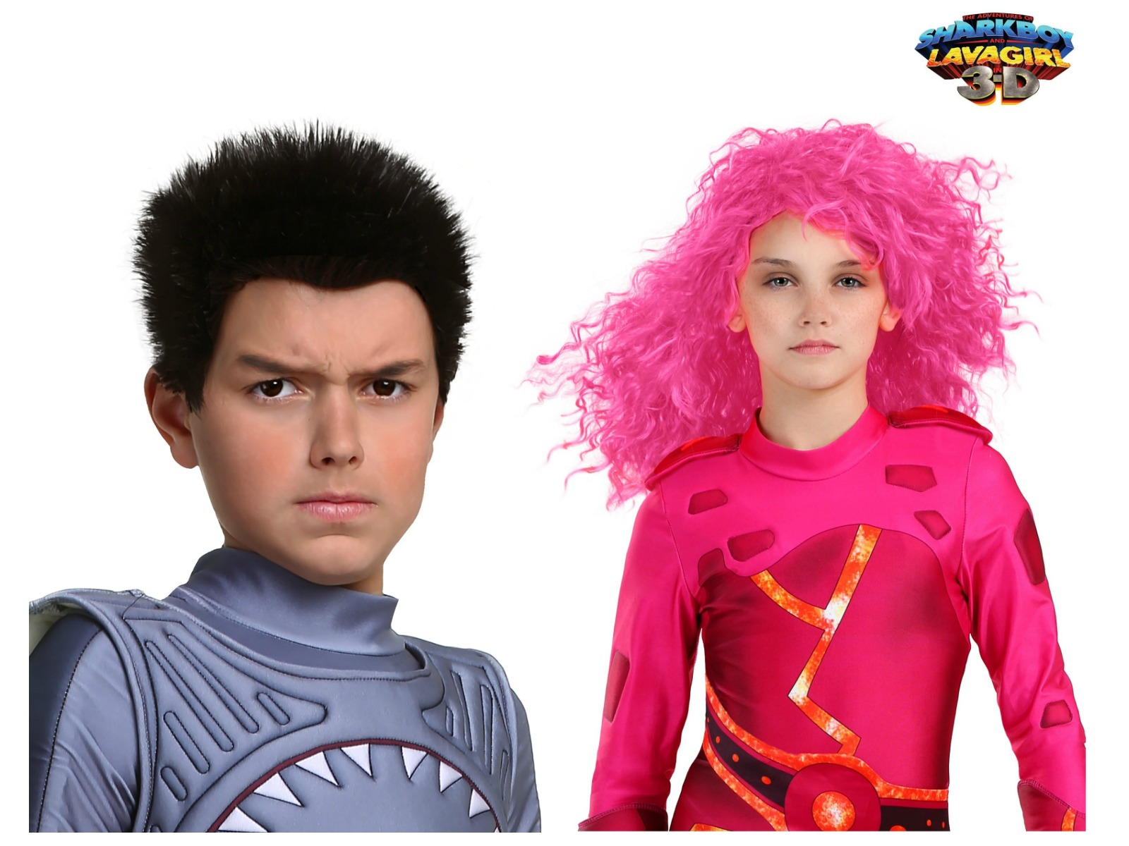Sharkboy and Lavagirl wigs