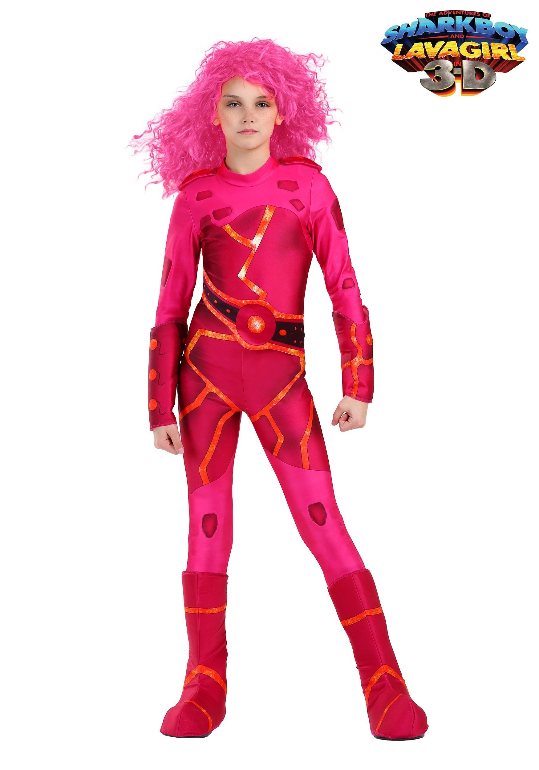 Lavagirl costume