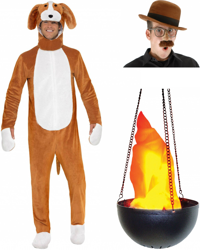 Products used for the This Is Fine costume