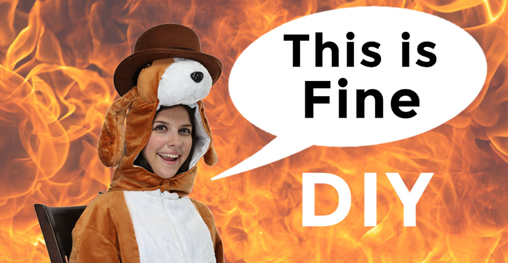 This Is Fine DIY Halloween Costume