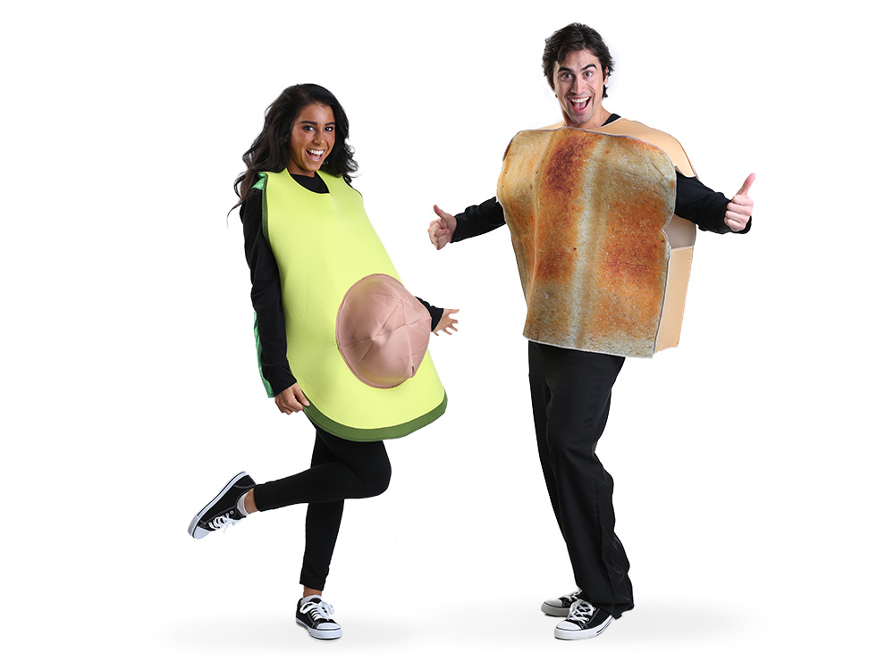 Avocado and Toast Costumes for Couples or Groups