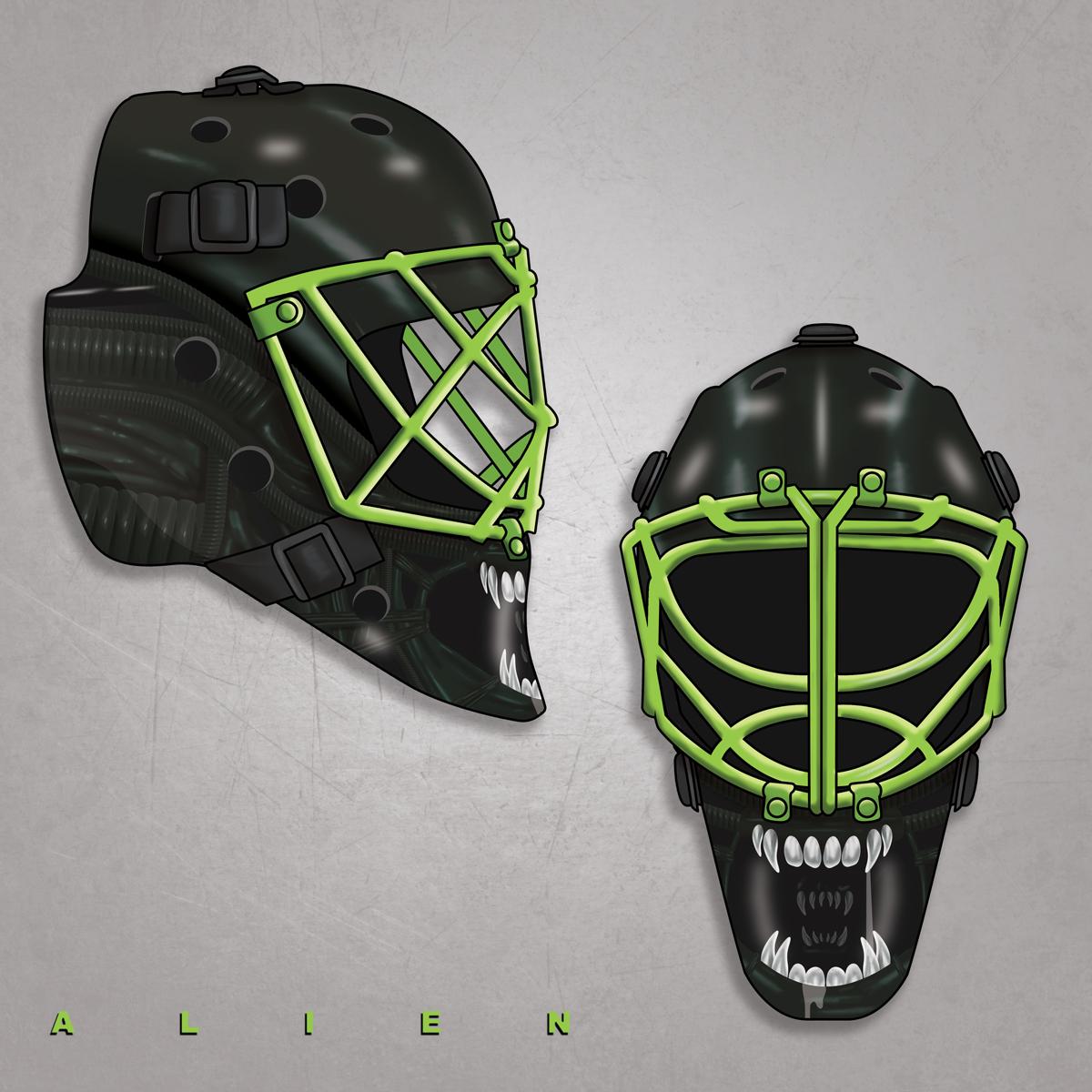 Xenomorph Hockey Mask
