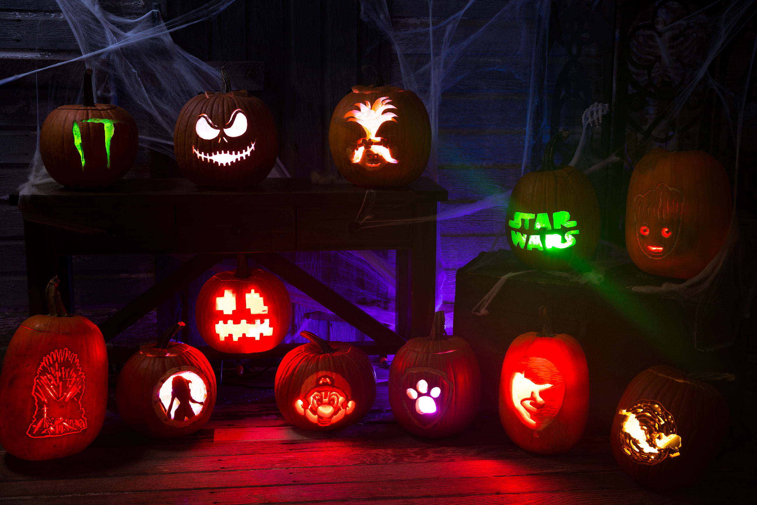 Pop Culture Pumpkin Stencils