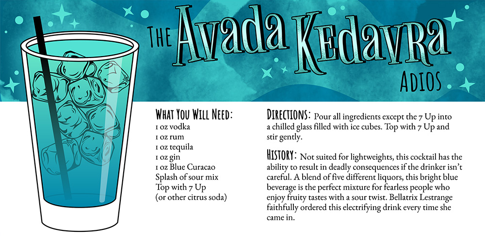Harry Potter Cocktails: The Avada Kedavra Adios Recipe