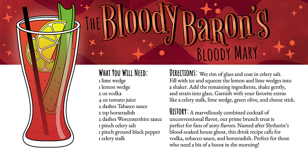 Harry Potter Cocktails: The Bloody Baron's Blood Mary Recipe