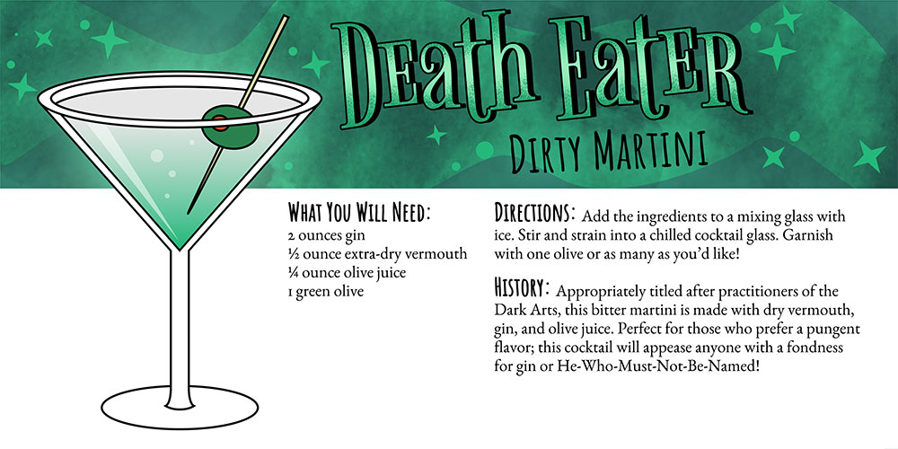 Harry Potter Cocktails: Death Eater Dirty Martini Recipe