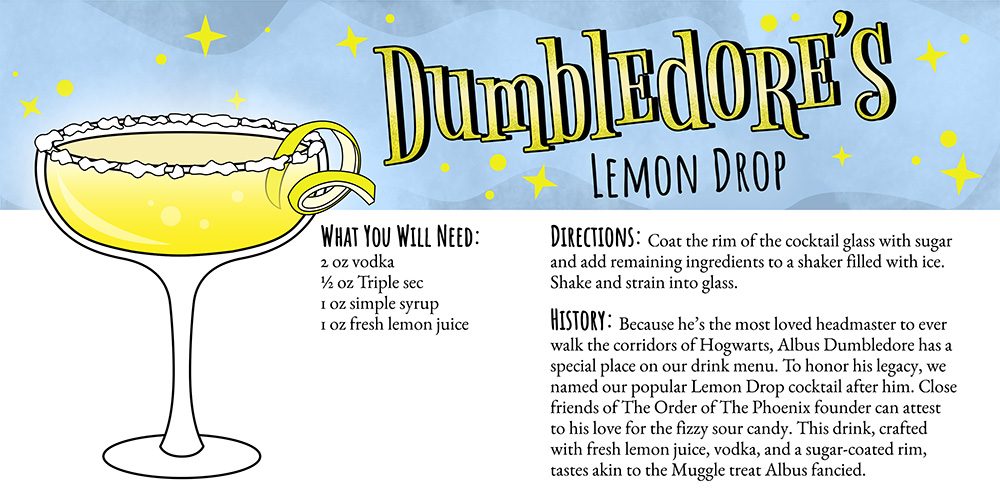 Harry Potter Cocktails: Dumbledore's Lemon Drop Recipe