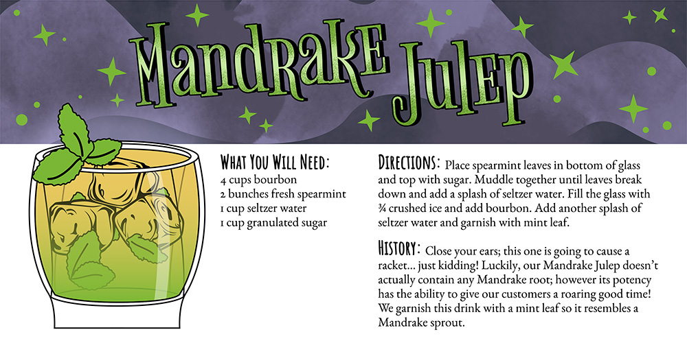 Harry Potter Cocktails: Mandrake Julep Recipe