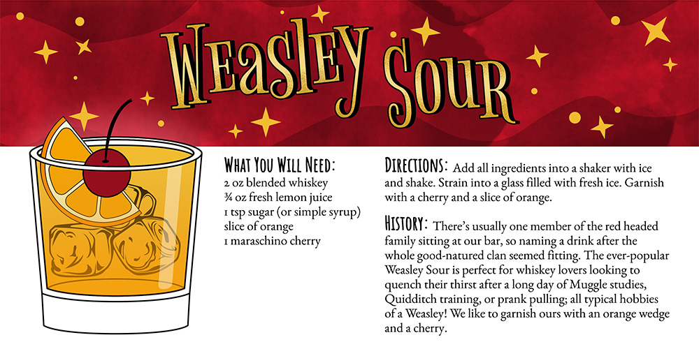 Harry Potter Cocktails: Weasley Sour Recipe