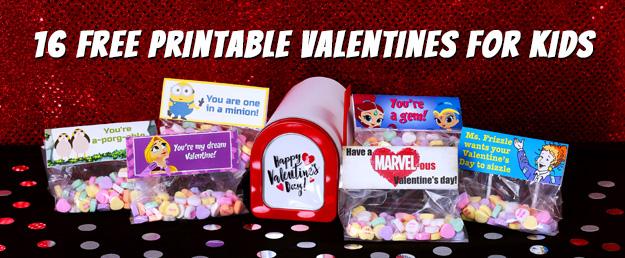 16 Free Printable Valentines for Kids