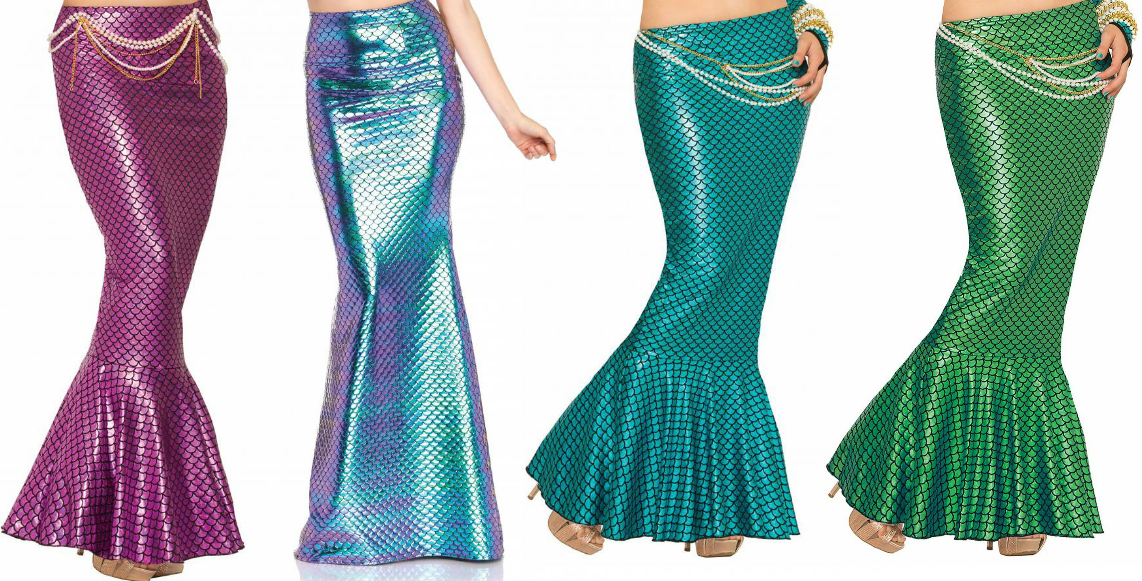 Mermaid Tail Fin Skirt