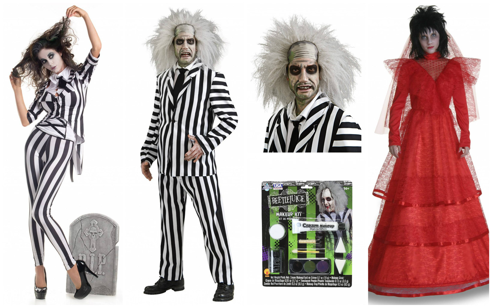 Beetlejuice Makeup Tutorial Halloweencostumes Com Blog