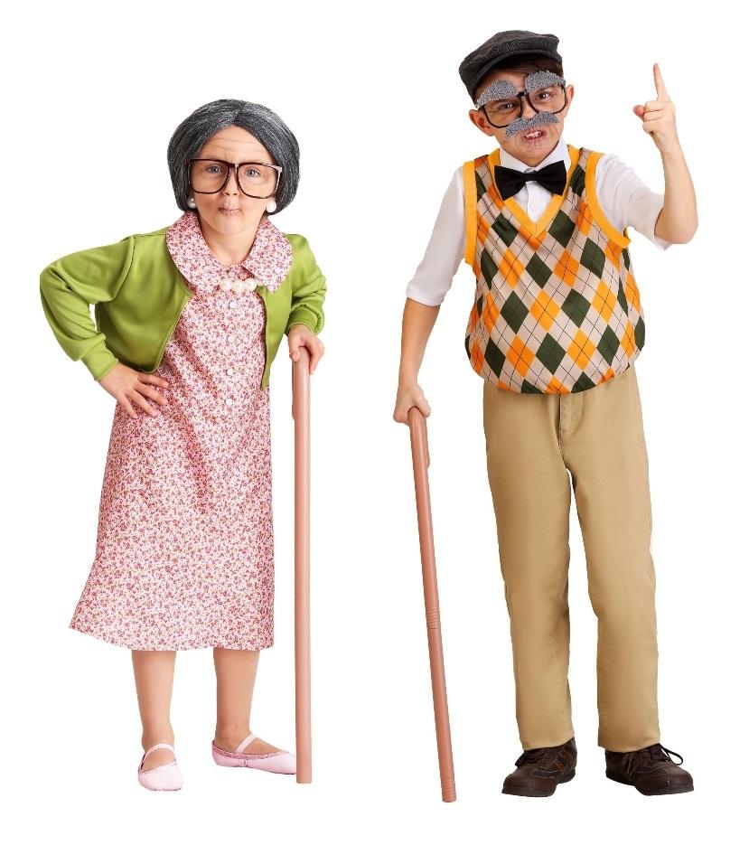 Grandma and Grandpa Halloween Costumes