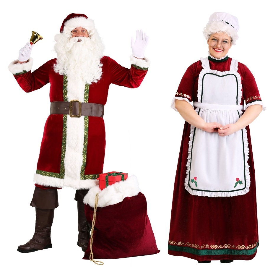 Santa and Mrs. Claus Halloween Costumes