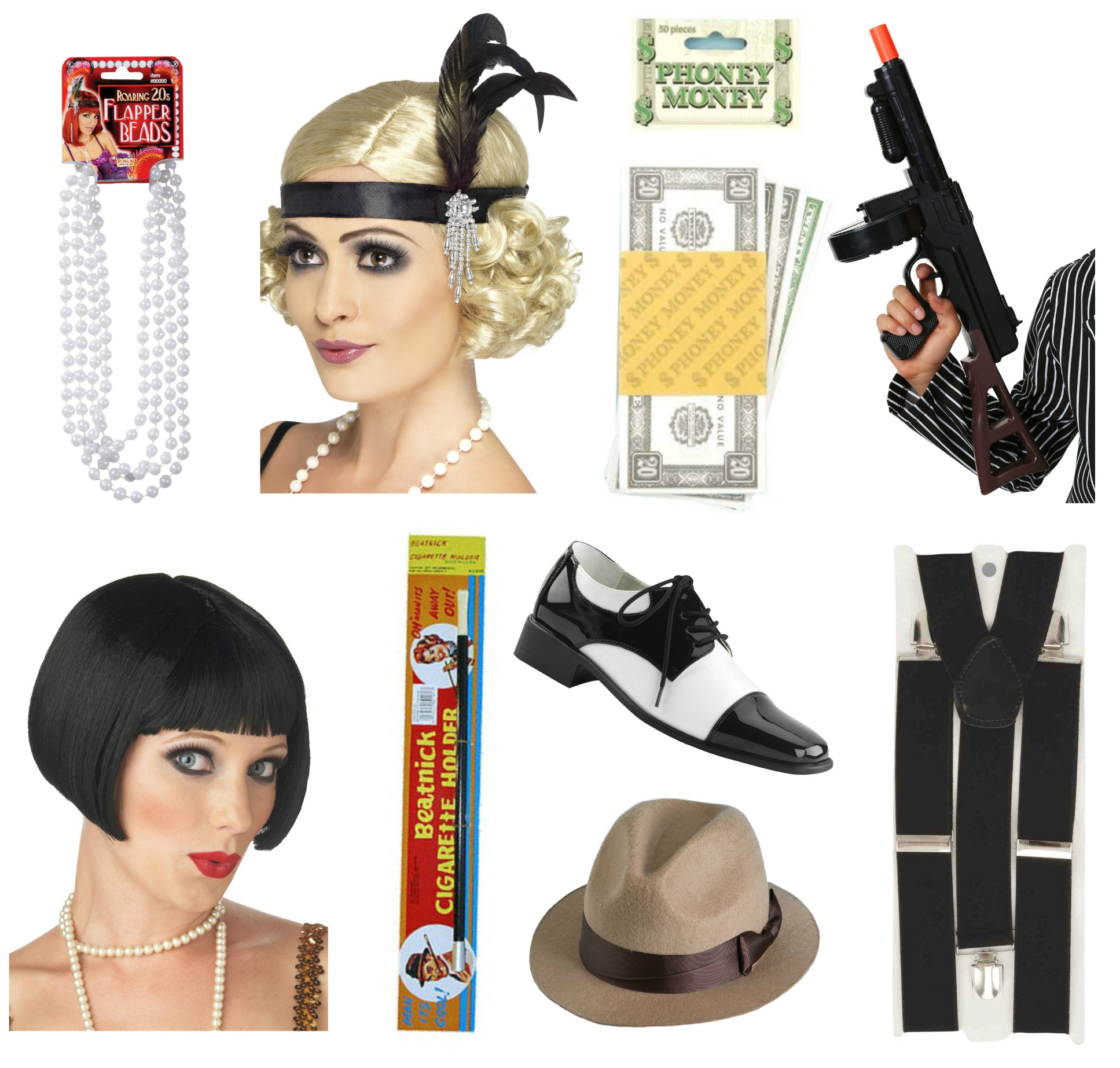Gangster and Flapper Accessories