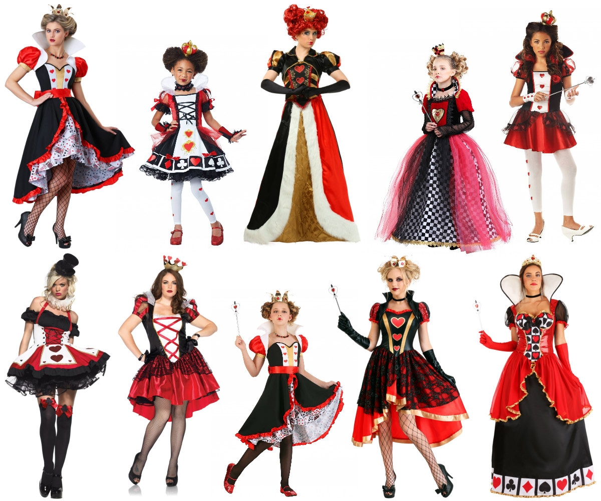 Regal Queen of Hearts Costumes