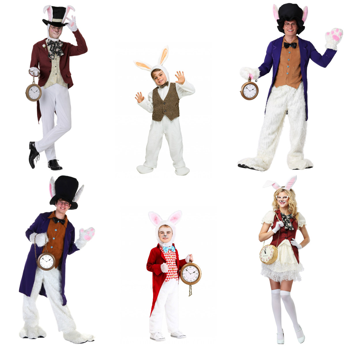 Whimsical White Rabbit Costumes