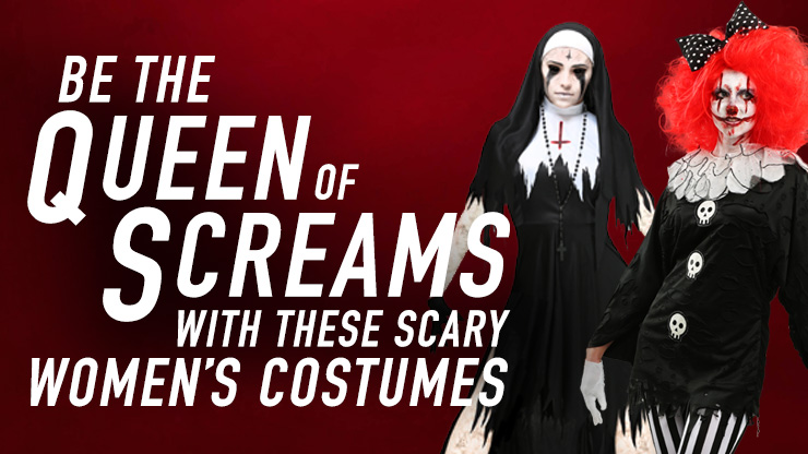 Be A Queen Of The Screams With These Scary Women's Costumes
