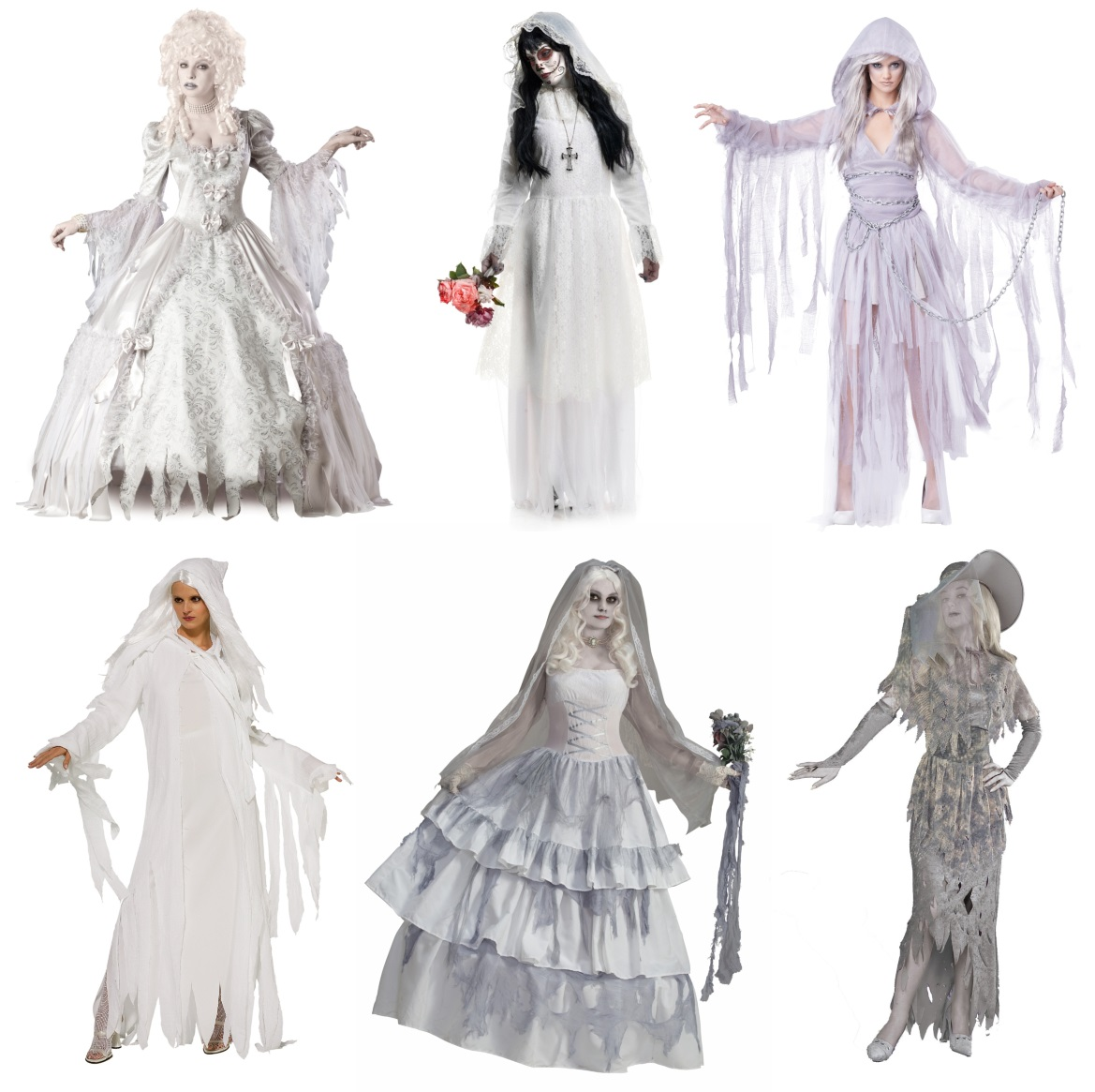Ghastly Ghost Costumes for Women