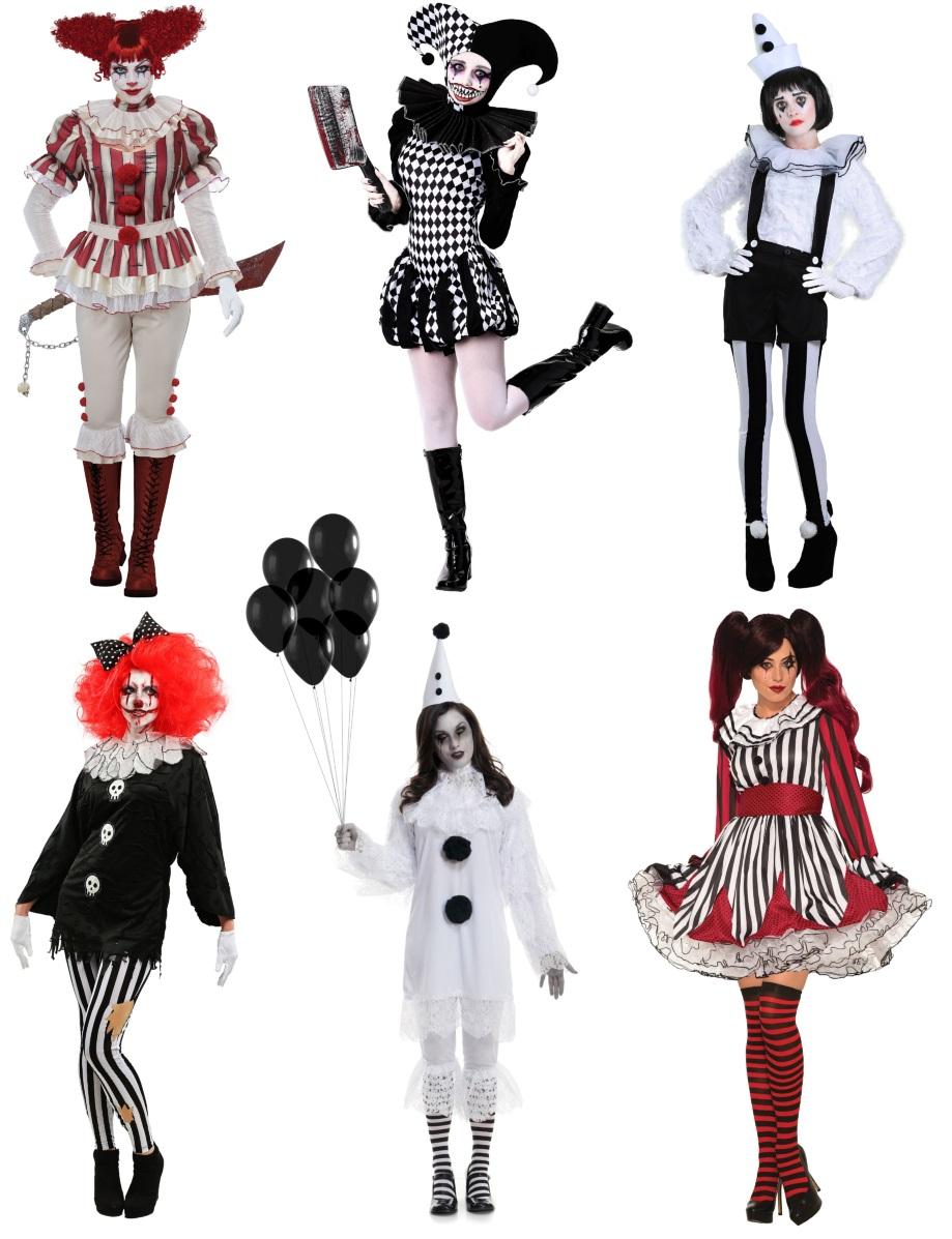 Creepy Clown Costumes for Women