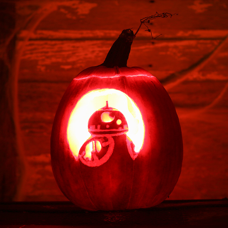 Star Wars BB-8 Pumpkin Carving Stencil