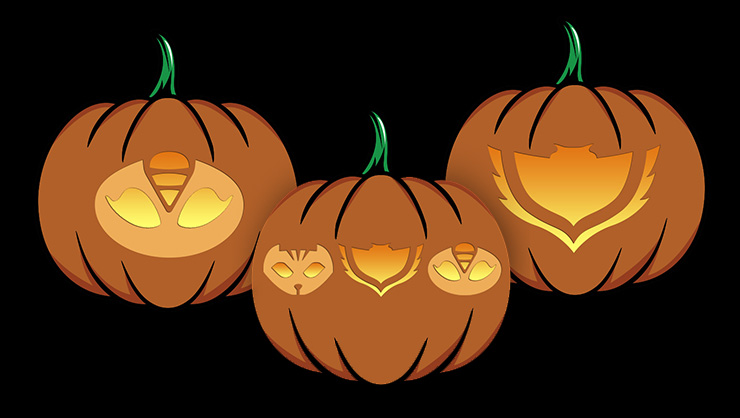 PJ Masks Group Pumpkin Carving Stencils