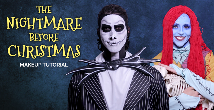 Christmas Halloween Makeup.The Nightmare Before Christmas Makeup Tutorial Halloween