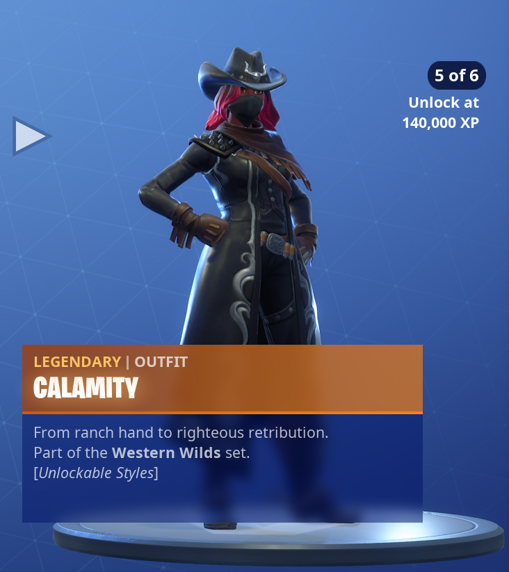 Legendary Fortnite Calamity Skin