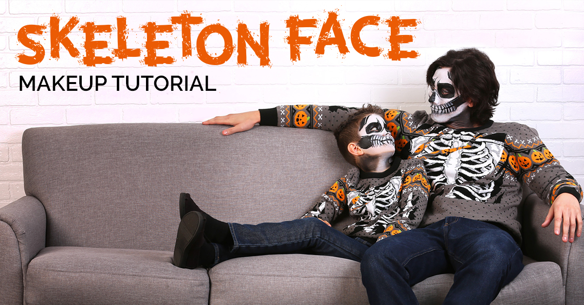 Skeleton Face Makeup Tutorial