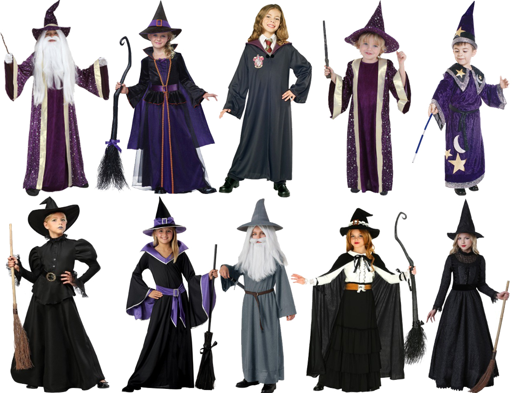 Witch and Wizard Costumes for Cold Weather