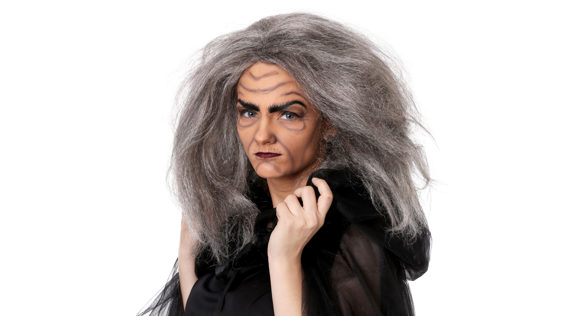 Witch Old Lady Makeup Tutorial Finished Look
