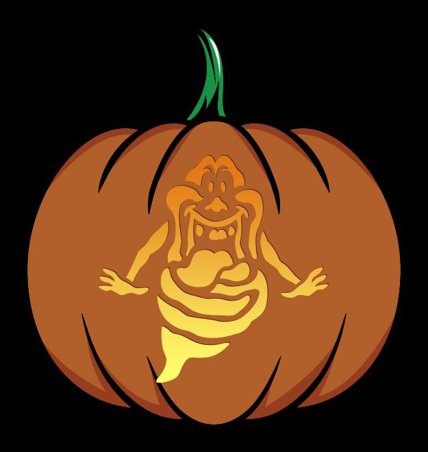 Ghostbusters Slimer Pumpkin