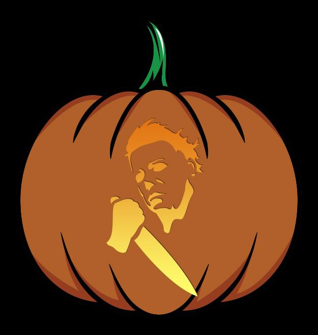 Halloween Kills Michael Myers With Knife Pumpkin