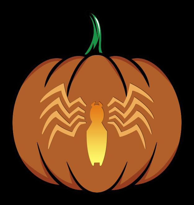 Marvel Venom Logo Pumpkin