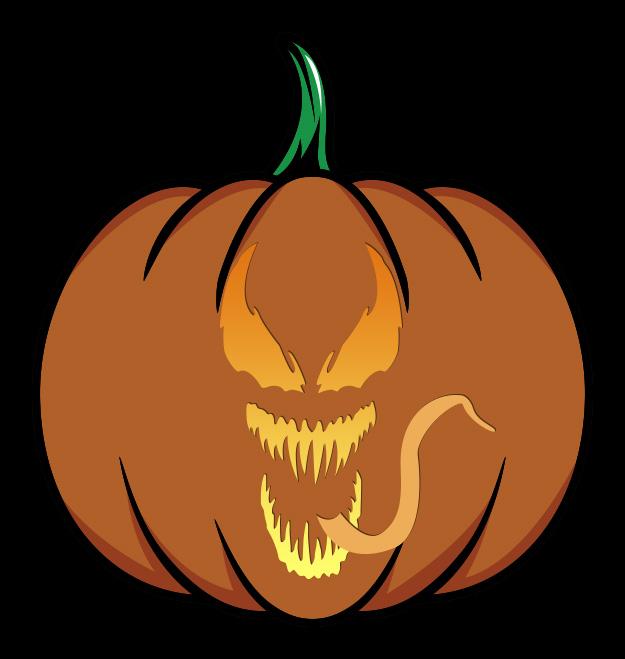 Marvel Venom Face Pumpkin
