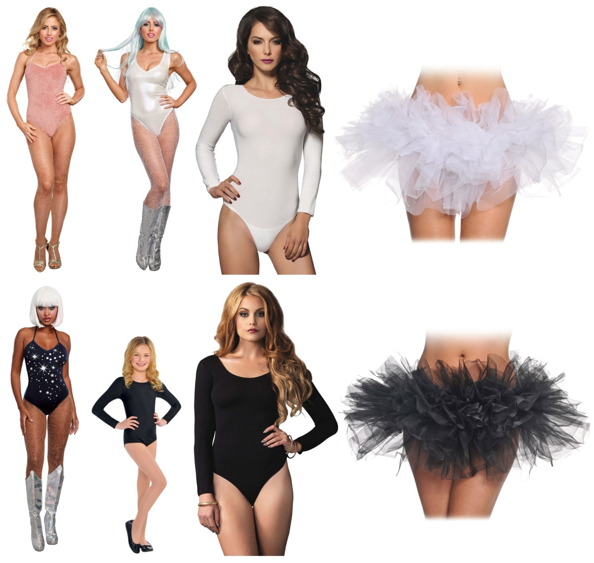 Trapeze Artist Bodysuit Costumes and Tutus