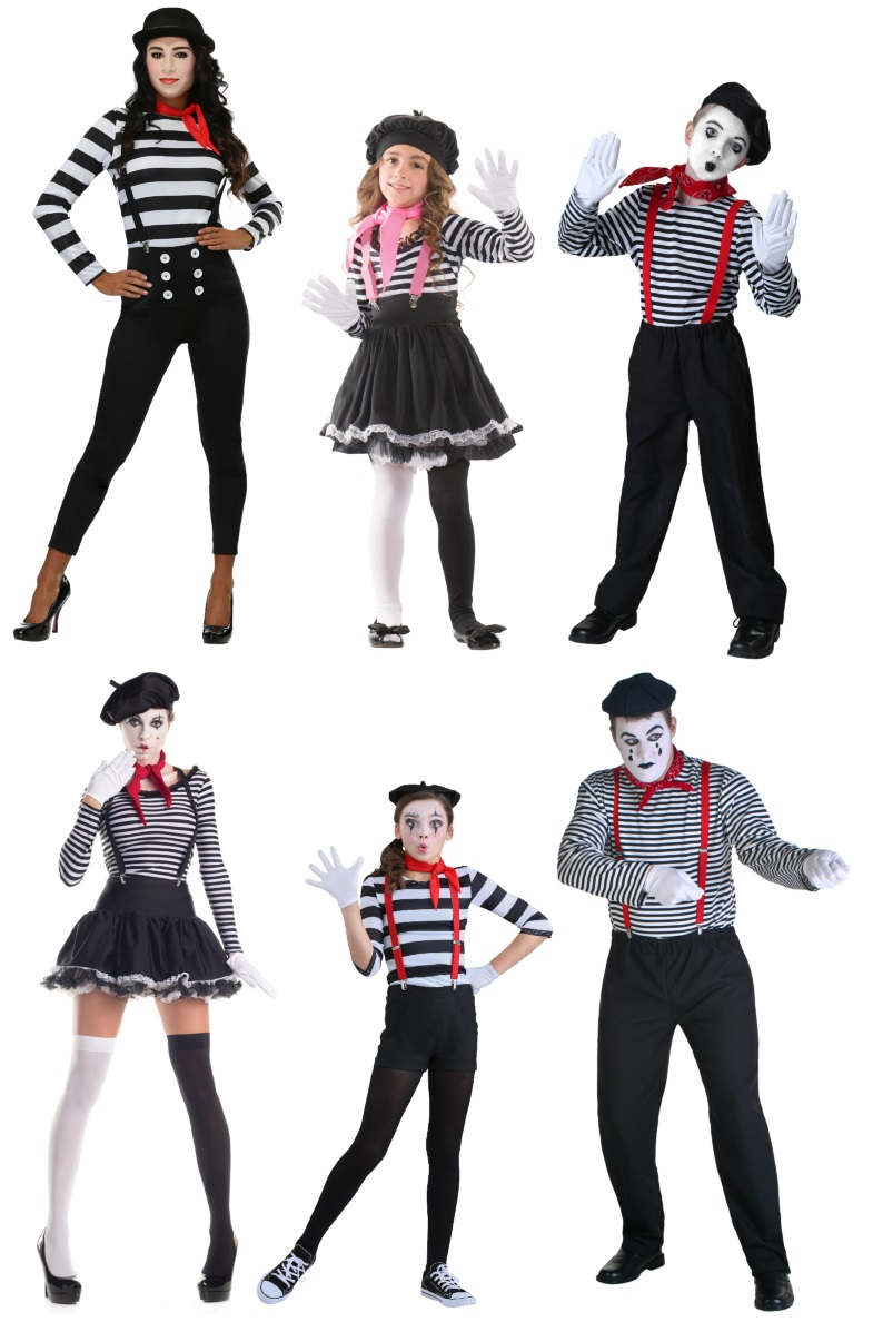 Mime Costumes for the Laugh Artist