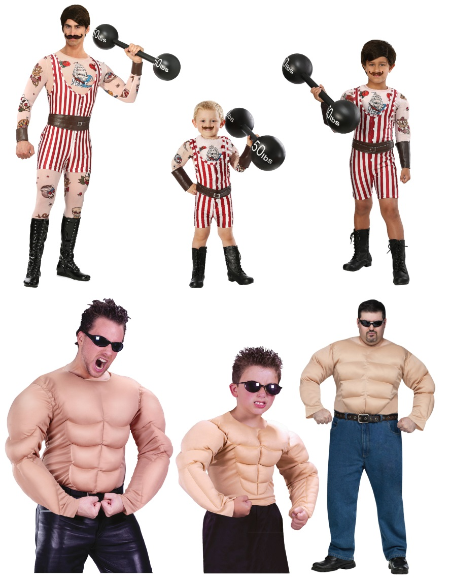 Strongman Costumes for all the Vintage Circus Vibes