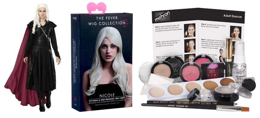 Here are the Products We Used for our Daenerys Hair, Makeup and Outfit