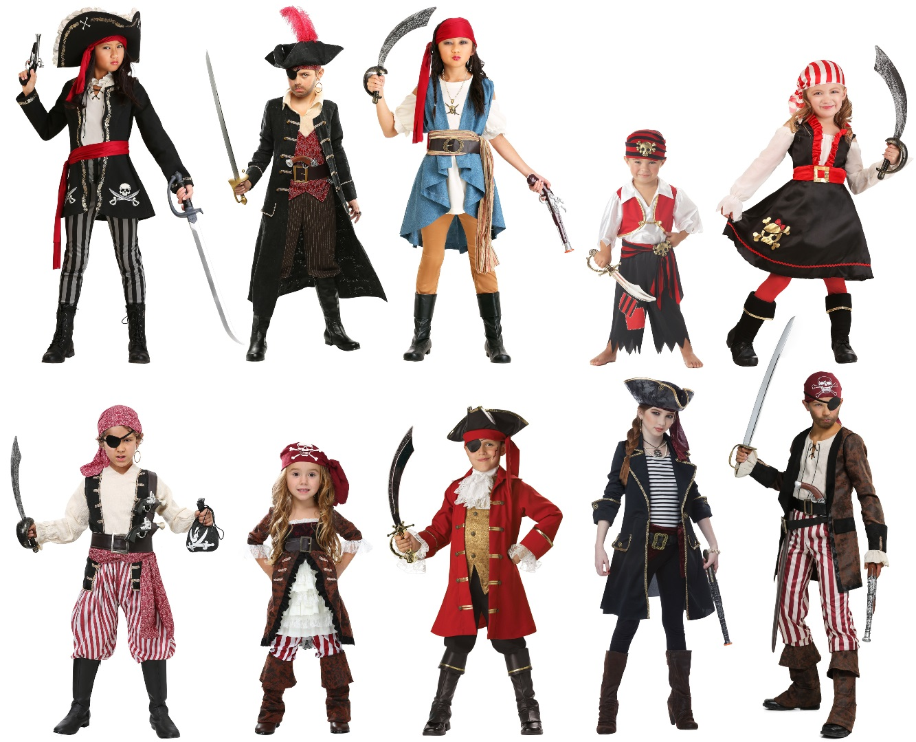 Renaissance Pirate Costumes for Kids