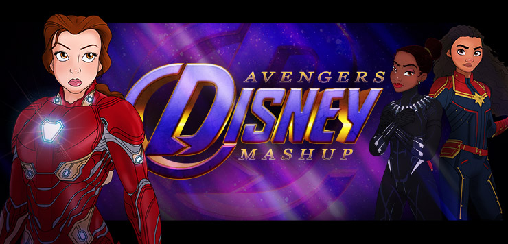 Princesses, Assemble! Disney Princess Avengers Mashup