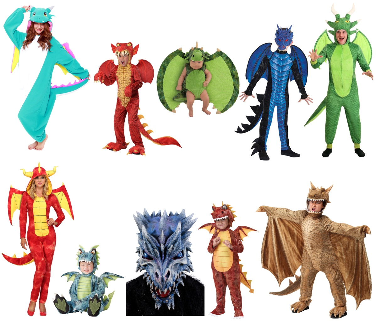 Dragon Costumes for Babies to Adults