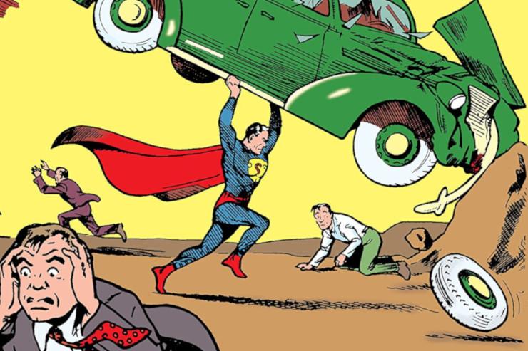 Action Comics #1 (June 1938) cover by Joe Shuster