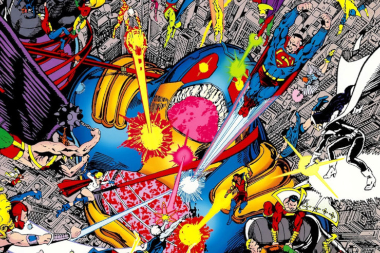 Crisis on Infinite Earths #12 (March 1986) artwork by George Pérez
