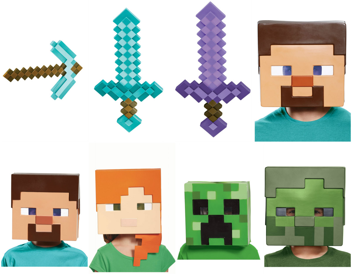 Minecraft Accessories and Masks