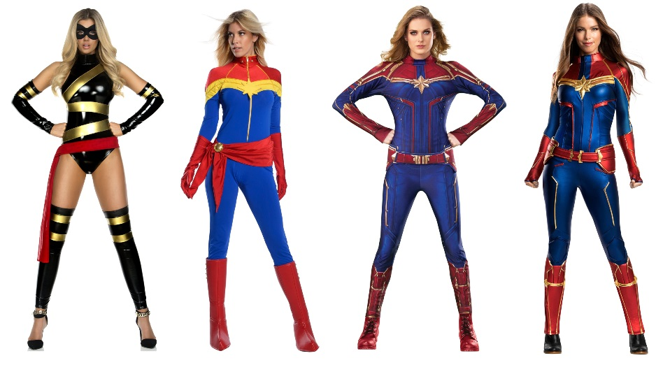 These Captain Marvel Costumes Will Take You Higher Further Faster Halloweencostumes Com Blog Despite all the differences, danvers still keeps her red belt and blond hair. these captain marvel costumes will take