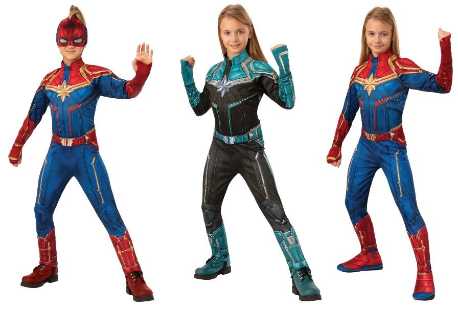 Captain Marvel Costumes for Girls